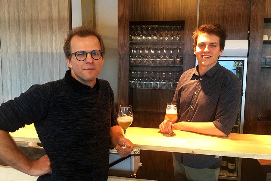 Joris en Ward van Genkse stadsbrouwerij Brauw